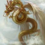応龍とは黄帝の戦神蚩尤を倒した中国神話最強の翼龍で龍の最終進化形態です。