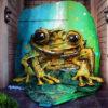 【芸術】Bordalo II氏がバクーで新作のカエルを完成させる。 アゼルバイジャン