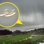 【UFO】これは微妙?ネス湖の上空で2つの空飛ぶ円盤が撮影される。