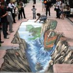 【芸術】これは落っこちそう!道路に立体的な絵を描いてみた