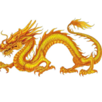 黄龍:中原を護り玄武、白虎、青龍、朱雀の四神を束ねる伝説の神龍