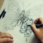 【芸術】昆虫をペンのみで書いてこのクオリティーとオリジナリティー。アレックス氏の昆虫デッサン