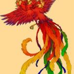 九鳳:古く楚の地方で信仰された頭が九つある不思議な鳳凰