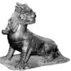 諦聴:地蔵菩薩のそばでお座りしている犬