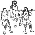 貫胸国民(穿胸国民):胸に穴の開いている奇妙な人々。ちなみに穴に棒を通して運べます。