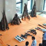 もはや戦争できるレベルの銃器が押収される。中国 広西省
