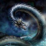 蜃:牡蠣に似ている説と龍に似ている説があり蜃気楼を作り出す海怪